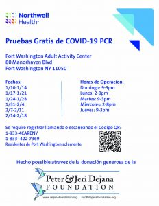 COVID testing site flyer