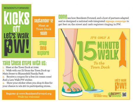 Port Washington Walk flyer to promote businesses in Port